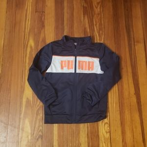 Puma Navy Blue Track Jacket Boys Size 7 in excelle